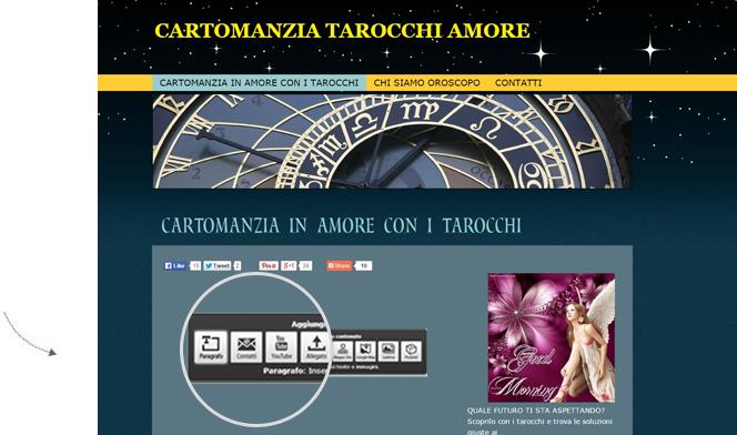 creare sito web cartomanzia
