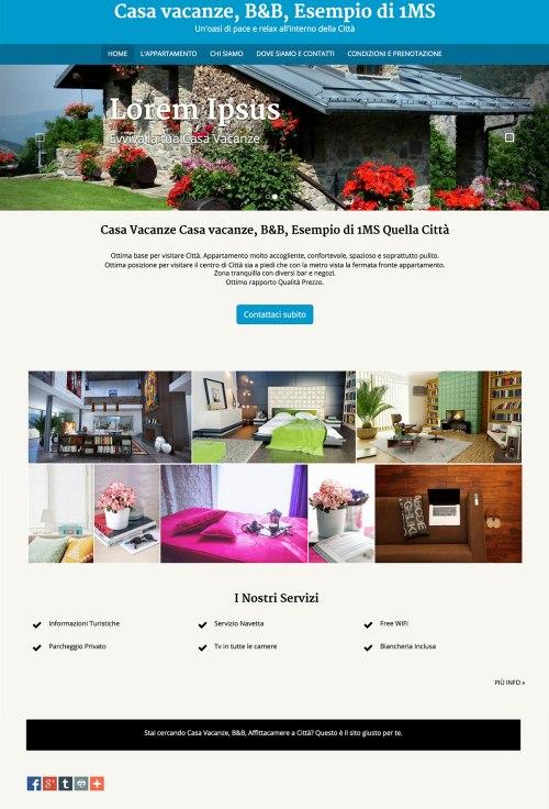 esempio di sito web per casa vacanze