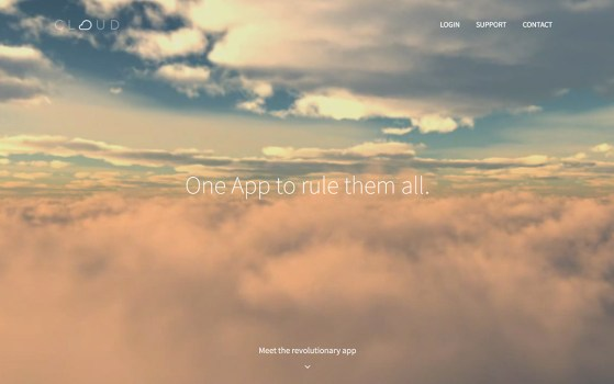 one page app website template
