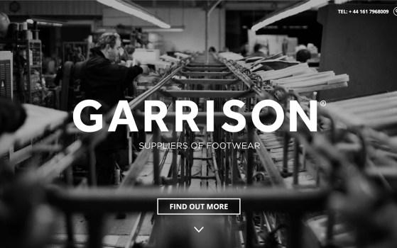 garrison footwear product web page
