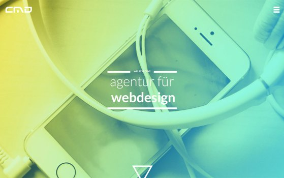 one page agency website