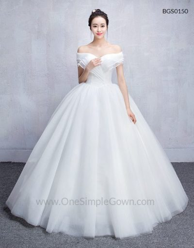 Korean Style Off the shoulder Wedding Ball Gown ...