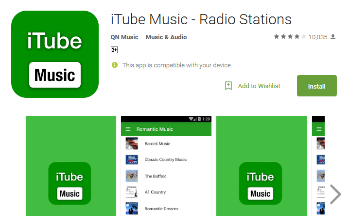 iTube Music Radio Stations