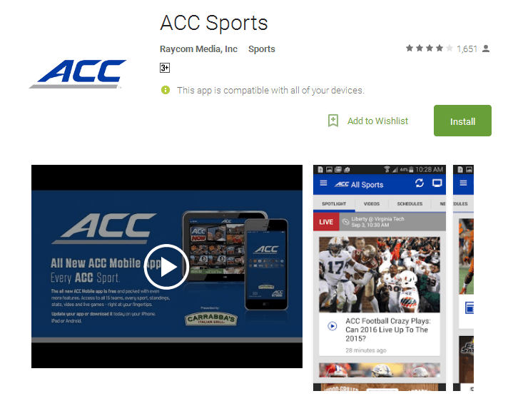 ACC Sports Android Apps