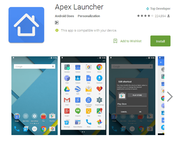 Apex Launcher Android Apps