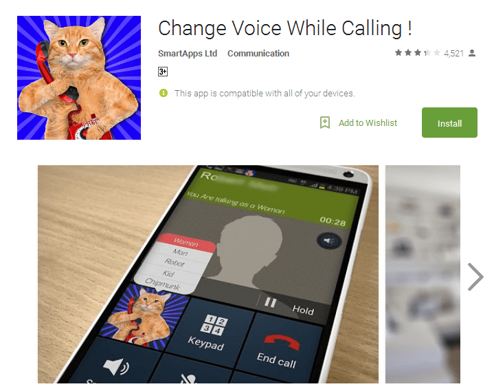 Change Voice While Calling prank calling apps