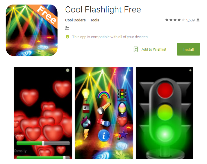 Cool Flashlight Free Android torch App