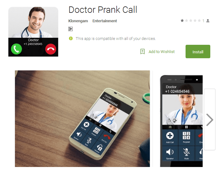 Doctor Prank Call Android Apps