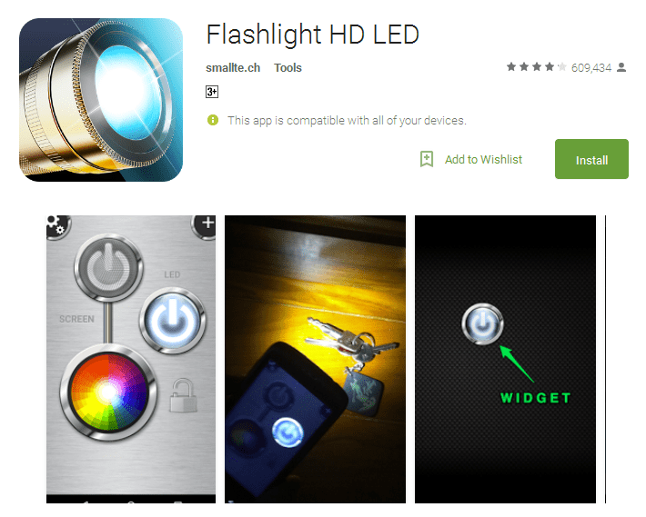 Flashlight HD LED torch app