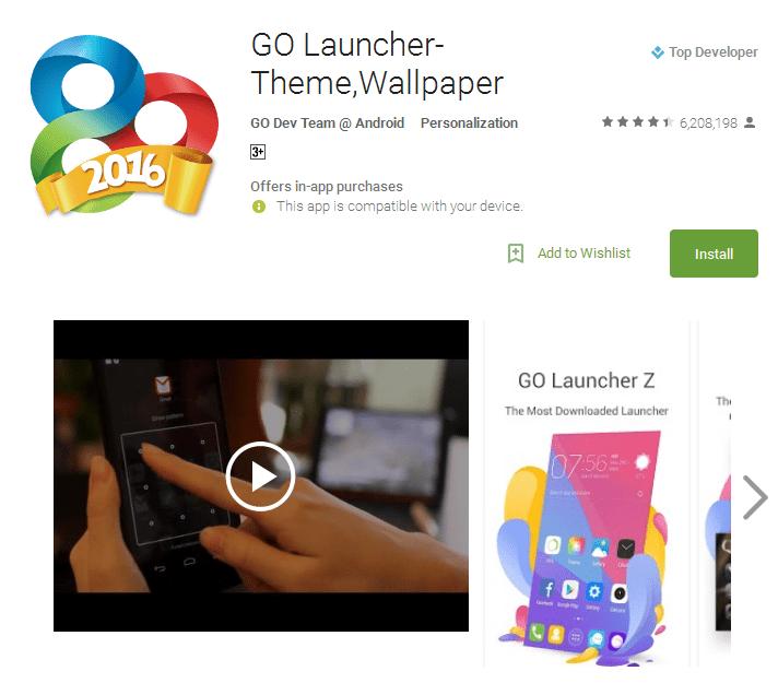GO Launcher Theme Wallpaper