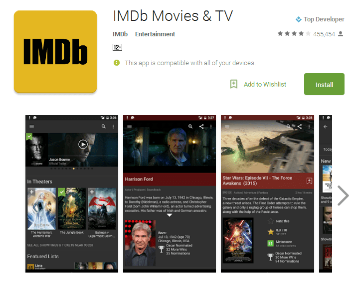 IMDb Movies TV Android Apps