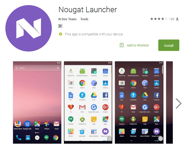 Free launchers for android