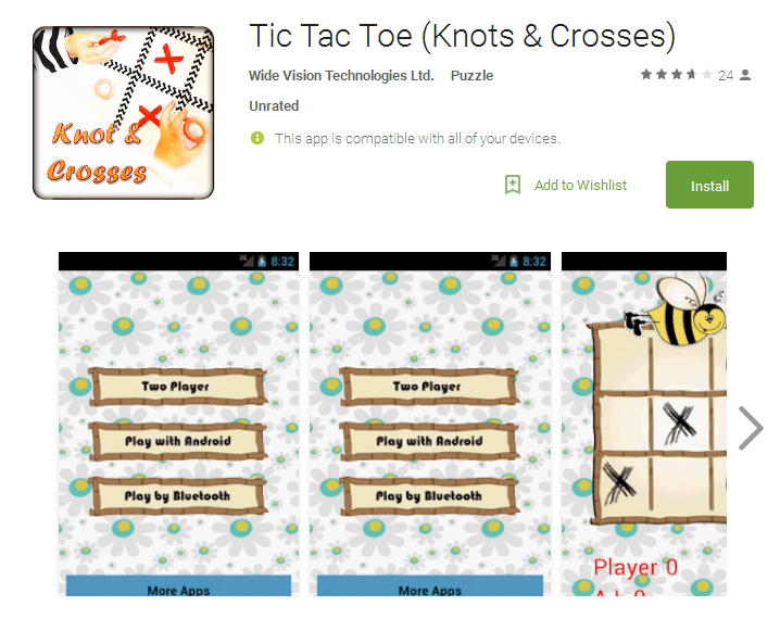 Tic Tac Toe Knots Multiplayer android games