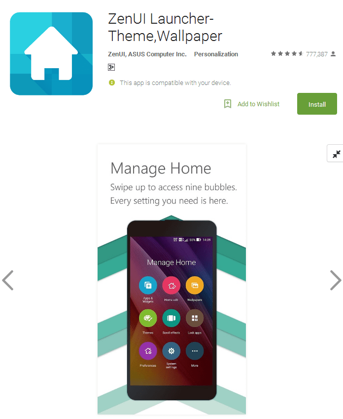 ZenUI free Launcher for android