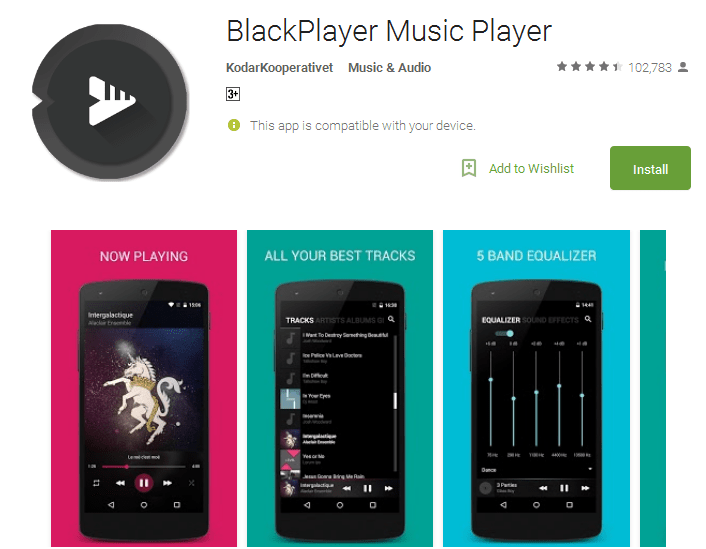 BlackPlayer Music Player Android Apps