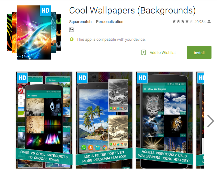 Cool Wallpapers Backgrounds Android Apps