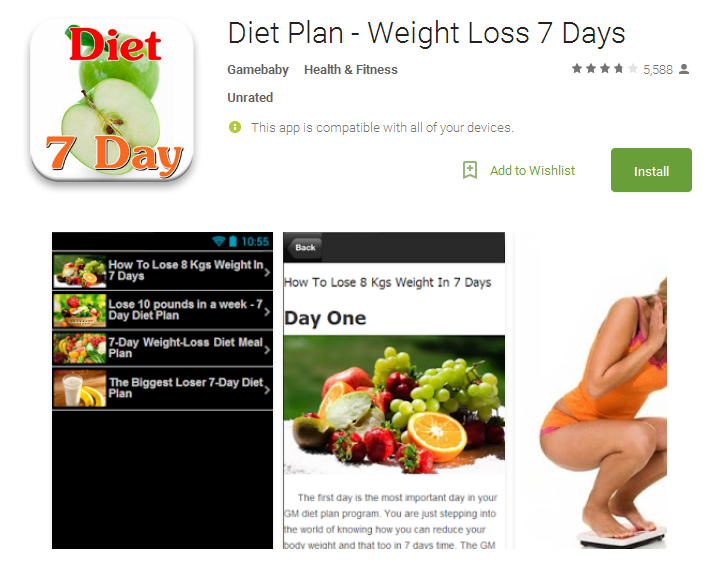 Diet Plan Weight Loss Android App