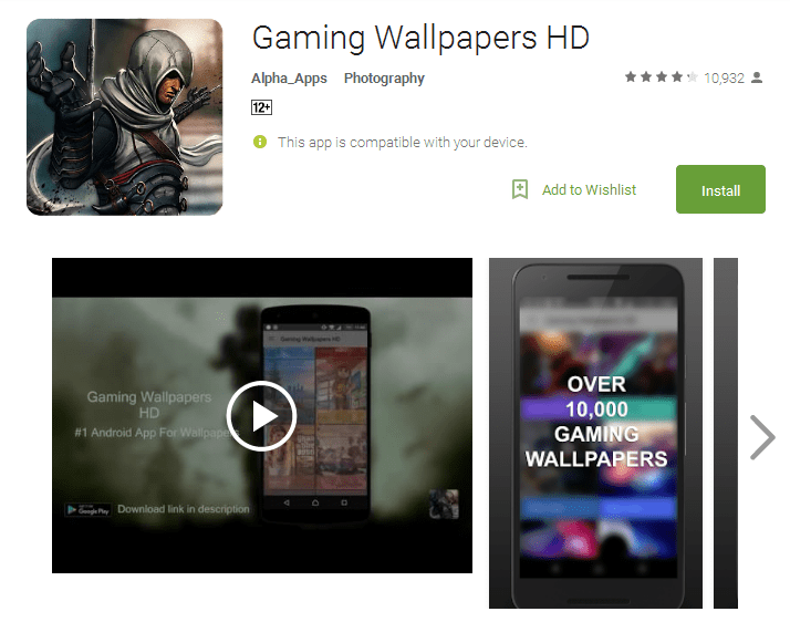 Gaming Wallpapers HD Apps