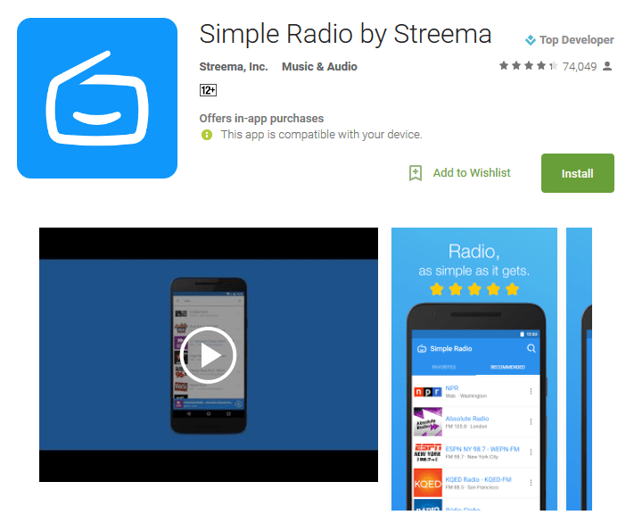 Simple Radio by Streema Android Apps