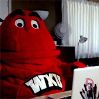 Big Red Mascot Online Dating Video