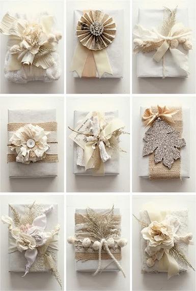 christmas burlap gift wrap from martha stewart