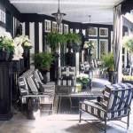 Home decor trend alert--black and white stripes