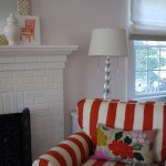 Love this cheerful red and white striped chair from Effortless style blog