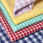 Gingham is available in many colors.