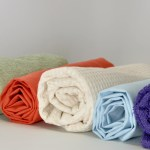 An assortment of toweling fabrics.