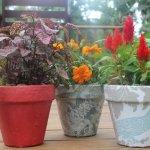 DIY Fabric Flower Pots