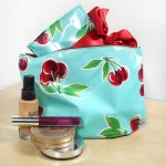 Cosmetic Bag and Brush Holder