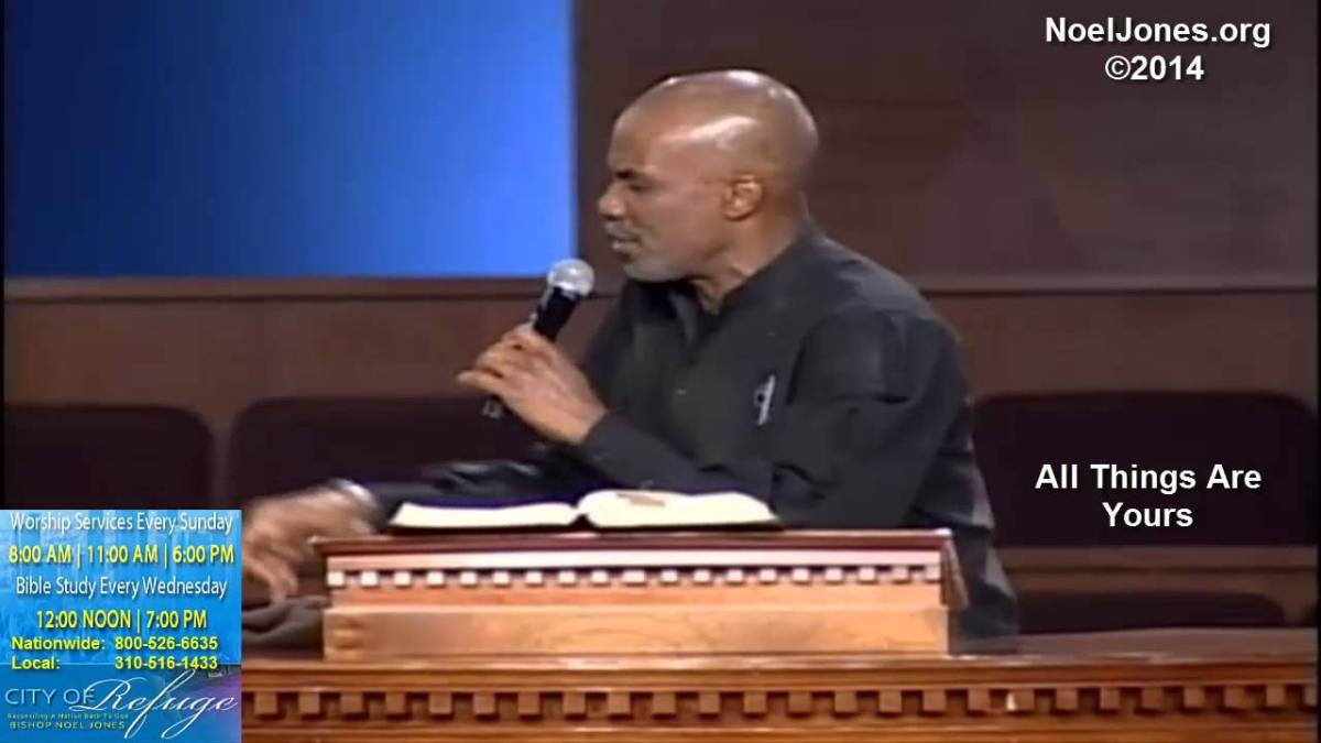 Bishop Noel Jones - All Things Are Yours (Video) 3-9-14