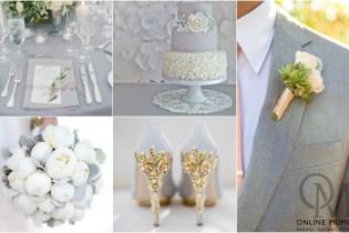 Wedding Wednesdays Colour Ideas #3 – Simply Grey
