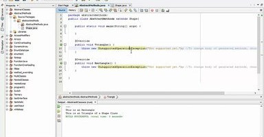 Abstract Method in Java