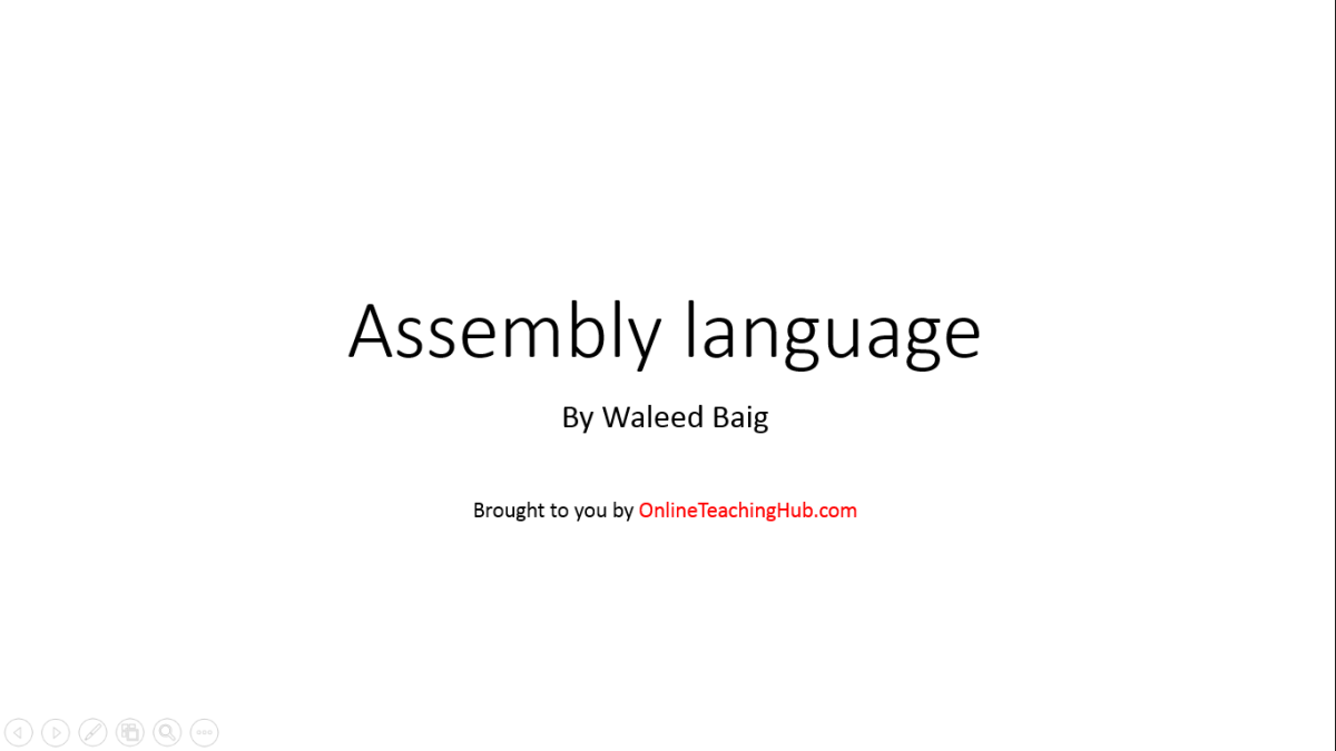 Assembly #1 - Introduction to Assembly language