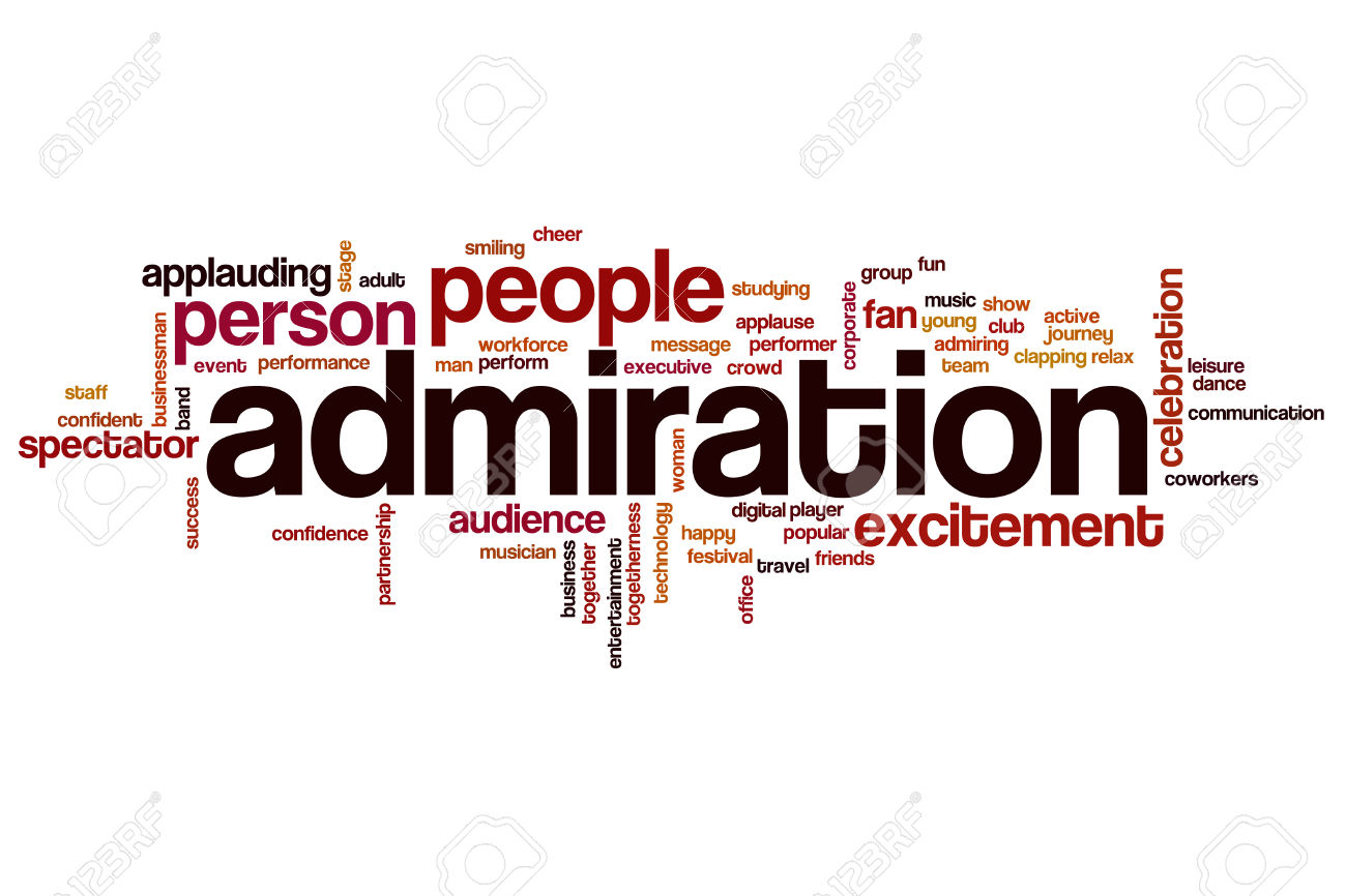 Admiration word cloud