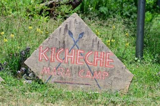 Kicheche Camp Sign
