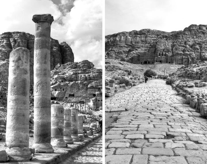 Petra in black and white, Jordan