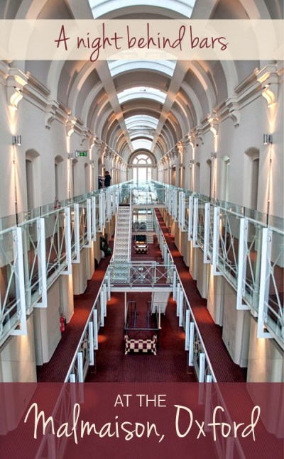 A night behind bars the malmaison oxford reviewed on for Prison converted to hotel