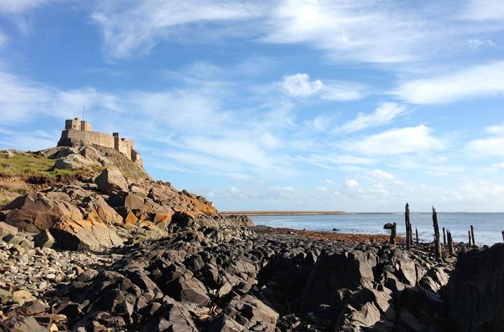 Lindesfarne Island in Northumbria