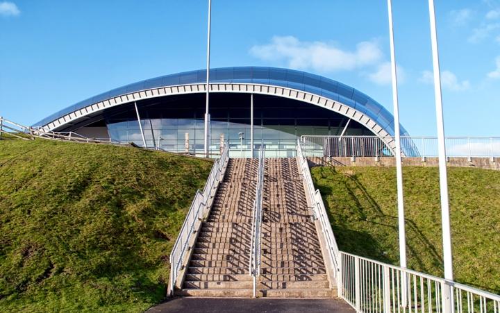Inside the Sage in Newcastle Gateshead, UK