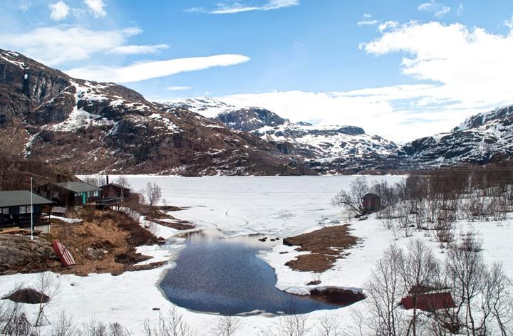 Flamsbana scenic railway in Norwegian fjords
