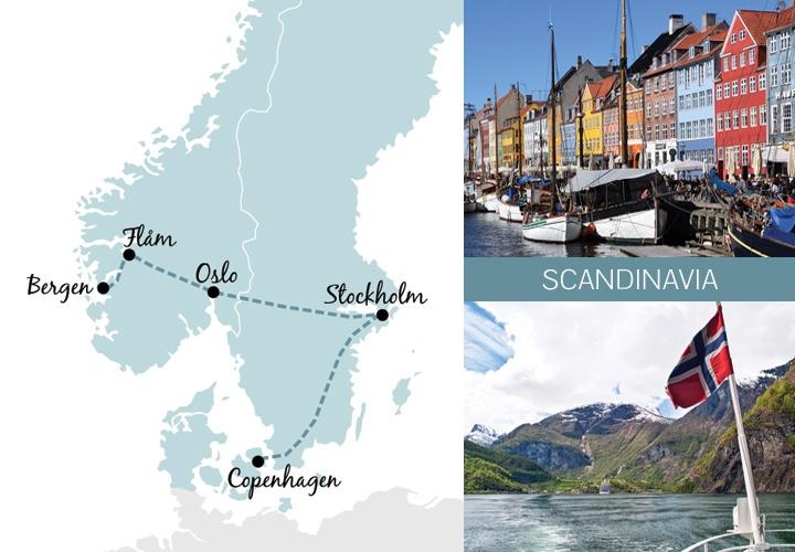 A one-week rail trip itinerary in Scandinavia