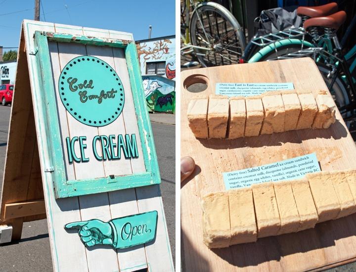 Cold Comfort ice cream in Victoria
