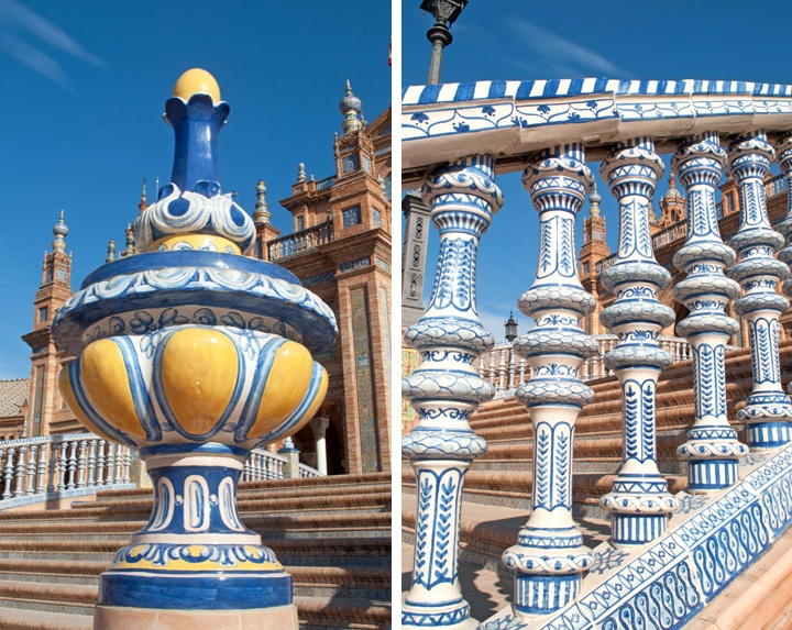 Painted tiles in Seville