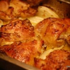 Kip sinaasappel en venkel uit de oven