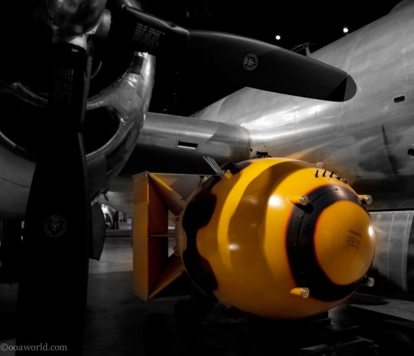 First A-bomb, seen at Dayton's USAAF museum