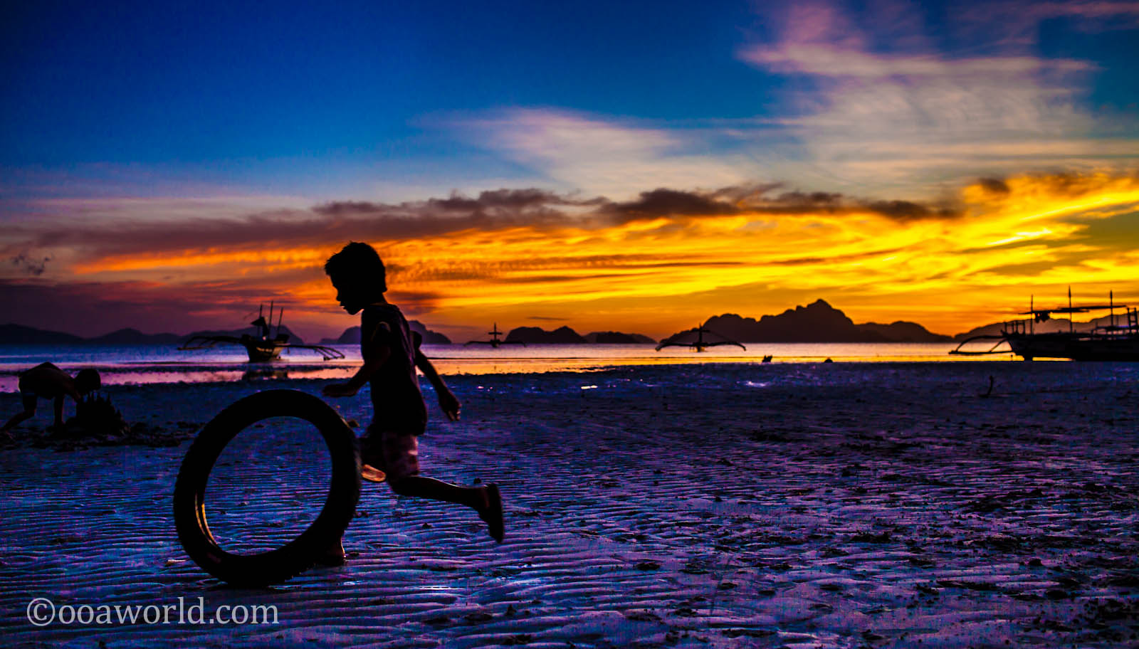 El nido palawan sunset photos philippines ooaworld for Wallpaper home philippines