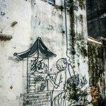 hawkers street art georgetown malaysia