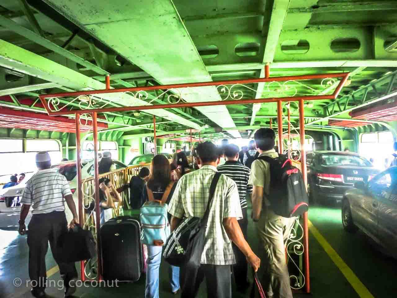 On ferry Georgetown Malaysia